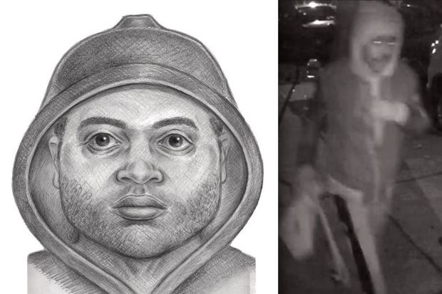 Police released a sketch and surveillance photo of the suspect.