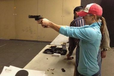 A student practices at a training hosted by SafeShot.