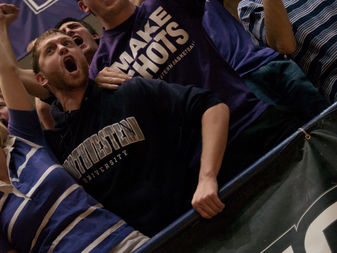 Northwestern University basketball fans are seen in this file photo.