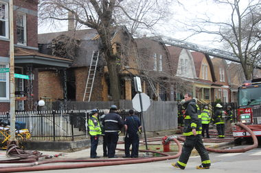 The Chicago Fire Department was called to 953 N. St. Louis Ave. around 11:45 a.m. Thursday.