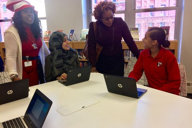 Burlington donated $80,000 to upgrade the library atThurgood Marshall Academy in Harlem.