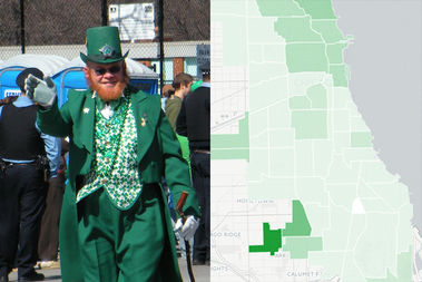 People with Irish ancestry make up 7.5 percent of Chicago's population today.