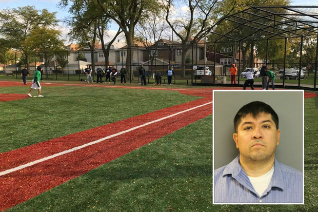 Carmelo Ramirez, a Little League coach at Kelly Park in Brighton Park, is charged with predatory criminal sexual assault and aggravated sexual abuse.