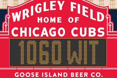 Goose Island's 1060 Wit beer will be available only at Wtigley Field and Goose Island properties.