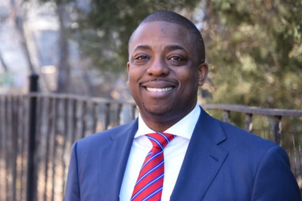 Brian Benjamin, chairman of Central Harlem's Community Board 10, is running to fill the state Senate seat recently vacated by Bill Perkins.