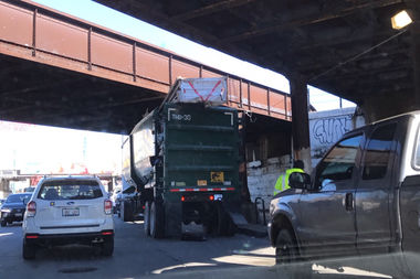 Ald. Brian Hopkins says another truck bound for the General Iron scrap yard got stuck under the Armitage Avenue viaduct Friday, backing traffic up onto the Kennedy Expressway.