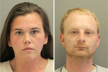 Brittney Schmidt and Vincent Fina were arrested after they collected money for the funeral of a 5-year-old boy with cancer, despite the fact he's still alive, officials said.