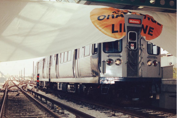 On October 31, 1993, CTA opened a new 'L' line from the Loop to Midway--the first completely new 'L' line since the Dan Ryan Line (today's South Side Red Line) opened in 1969, and the first time the 'L' was extended into a part of the city previously not served since 1984 (when today's Blue Line was extended to O'Hare).