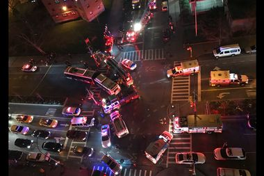 An MTA bus driver ran over a 61-year=old woman Monday night at Avenue D and Houston Street.