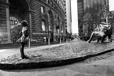 'Fearless Girl' Is Now Staring Down Wall Street's Iconic Charging Bull
