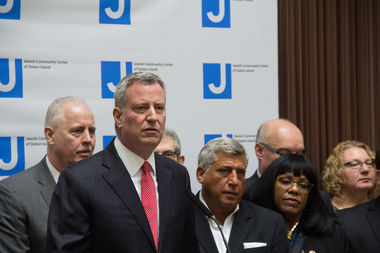 Mayor Bill de Blasio promised the NYPD would be vigilant as another wave of bomb threats around the country included the Anti-Defamation League's Manhattan headquarters for a second time.