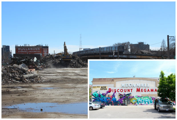 This week crews finished razing the massive Megamall, which became a Logan Square fixture during its 20-year run.