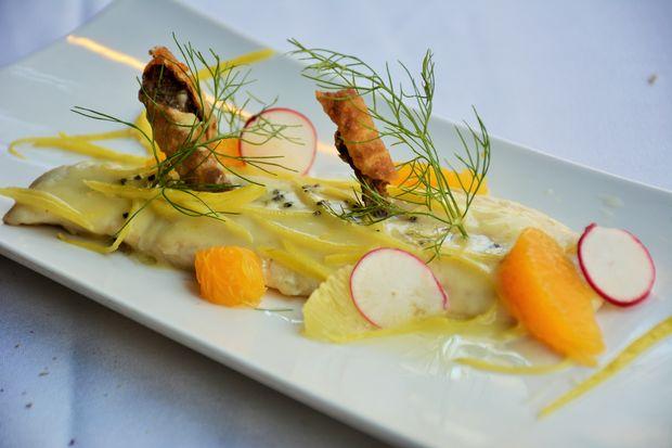 The lemon branzino at Piccola Cucina Estiatorio, opening Wednesday on Thompson Street.