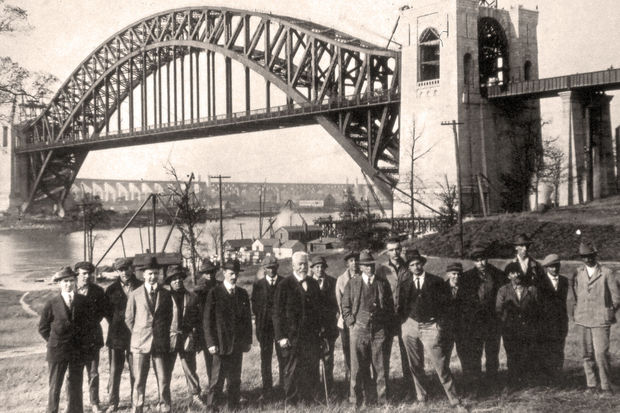 The Hell Gate Bridge, which stretches over the East River from Astoria to Wards Island, will celebrate its 100th year on Thursday, marking a century since officials celebrated its opening with a dedication ceremony in 1917.