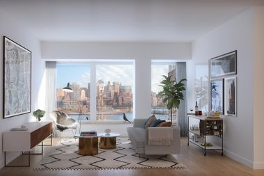 At the Financial District's new development at 180 Water St., listings from Douglas Elliman range from a studios  at $2,533 a month to a three-bedroom at $7,338 a month.