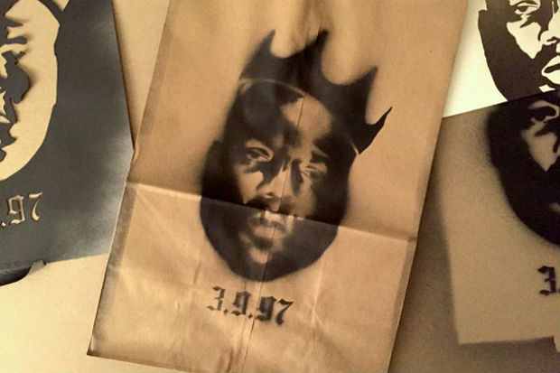 Limited-edition grocery bags featuring Biggie Smalls will be available at the Key Food at 991 Fulton St. Thursday, March 9, 2017 to commemorate the 20th anniversary of his death.