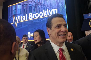Governor Andrew Cuomo outlined a $1.4 billion plan to combat poverty in Central Brooklyn in an announcement at Medgar Evers College on Thursday.