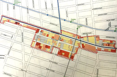The Department of City Planning is studying a manufacturing district along Atlantic Avenue in Crown Heights and Bedford-Stuyvesant to develop a land use framework for the area.