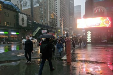 A wintry mix is expected to give way entirely to snow late Friday morning, forecasters said.