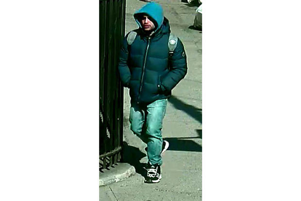 Police are looking for a man they said sucker punched an 88-year-old male stranger on East 196th Street and Briggs Avenue on March 6.