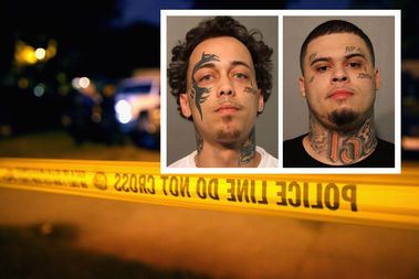 Jose Martinez (left) and Santo Lozoya (right) are charged with first-degree murder.