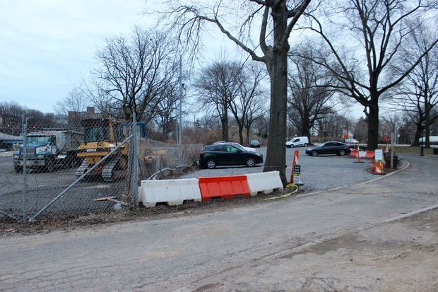 Two parking lots have been built in the back of Maple Grove Park.