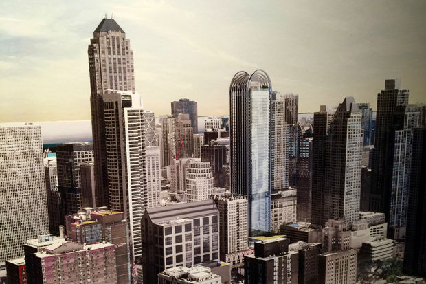 Slides from Monday's presentation of a new 60-story tower proposed for River North. The Carillon at Wabash and Superior would be the tallest tower built since the recession in the neighborhood.