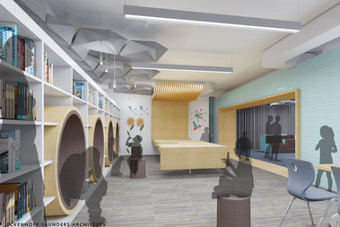 The new Parker library will have reading nooks that students can crawl into and a Lego table.