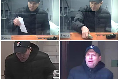 Police are looking for this man, who they say robbed two East Side banks in March.
