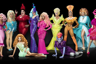 Chicago performer Shea Coulee (fourth from right) will appear on Season 9 of