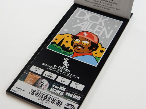 White Sox tickets from graphic designer Todd Radom
