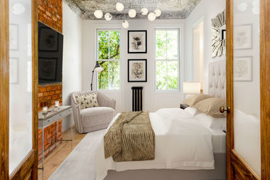 This master bedroom is located at 439 36th St. in Brooklyn.