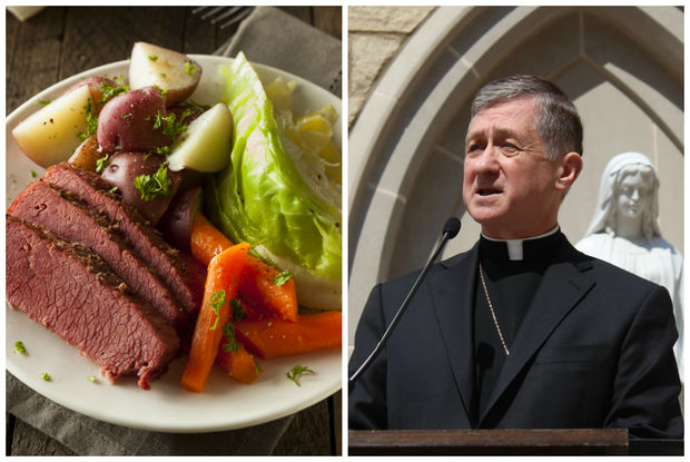 Cardinal Blase Cupich is giving Catholics a dispensation on St. Patrick's Day to eat corned beef. It falls on a Friday in Lent this year.