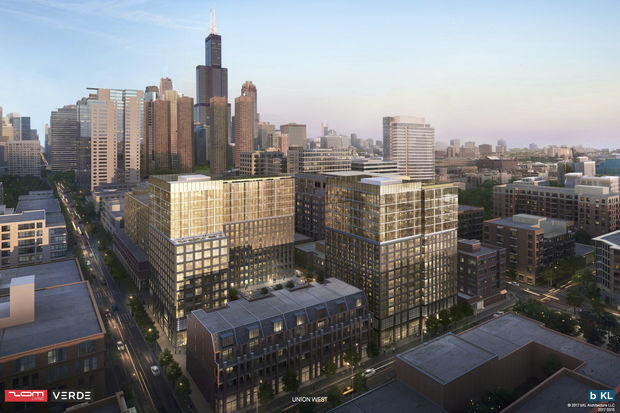 Union West developers now plan to build 358 apartments in two 15-story towers at Washington and Sangamon in the West Loop.
