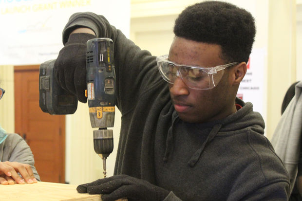 Curtis Robinson, 17, is a part of Lindblom's Aspen Challenge group.