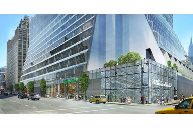A rendering of the new Whole Foods Market heading to 5 Manhattan West.