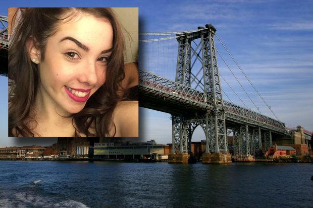 Amanda Miner, inset, died when Stefan Hoyte crashed their car on the Williamsburg Bridge, police said.
