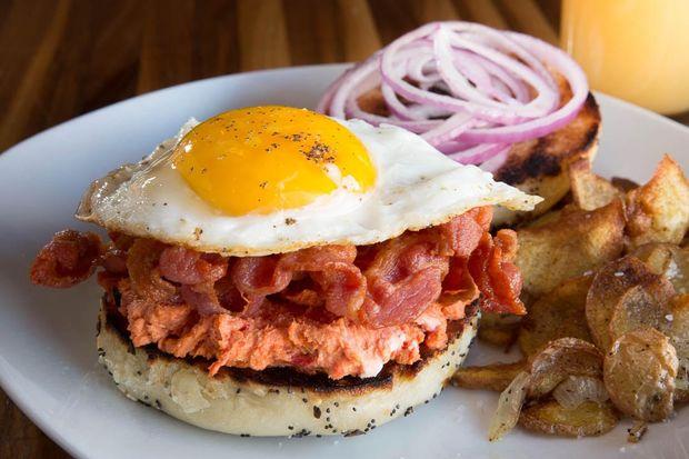 A Sunrise Sandwich at Harvest Moon.