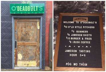 Deadbolt, 2412 N. Milwaukee Ave., transformed into O'Deadbolt's for the holiday.