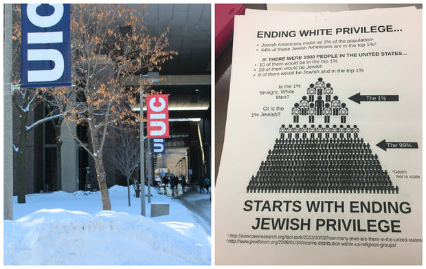 Anti-Semitic fliers were found on the University of Illinois at Chicago campus this week.