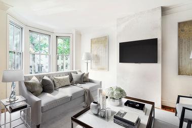 A living room in Brooklyn.