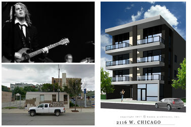 Jay Bennett's former recording studio building at 2116 W. Chicago Ave. will be demolished and replaced by condos.