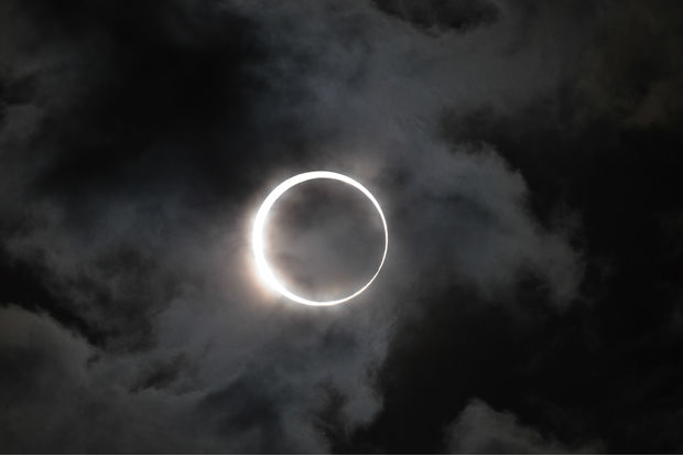 A solar eclipse seen in 2012 from Japan.