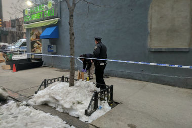 The victim was pronounced dead after a fight with another man in Hell's Kitchen, police said.