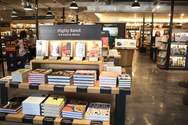 a look inside amazon s first brick and mortar bookstore in chicago