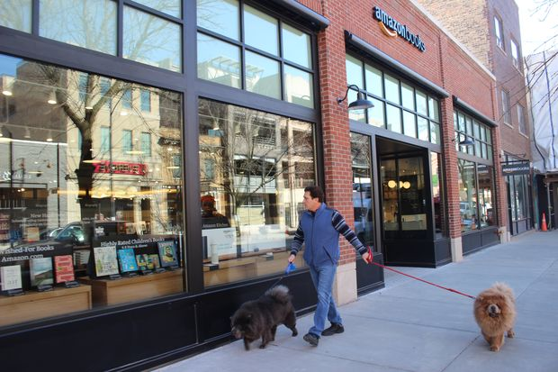Amazon Books opened at 3443 N. Southport Ave., the first brick-and-mortar Amazon outpost in Chicago.