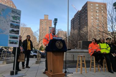 The city will undergo a massive construction project to improve pedestrian and bicyclist safety, the mayor said.
