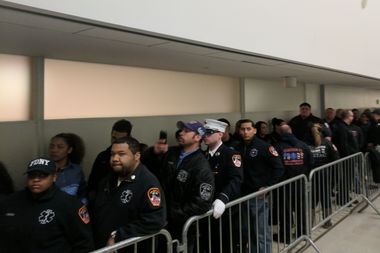 EMTs packed the Bronx Hall of Justice on Wednesday for Jose Gonzalez's appearance, who is accused of killing EMT Yadira Arroyo.