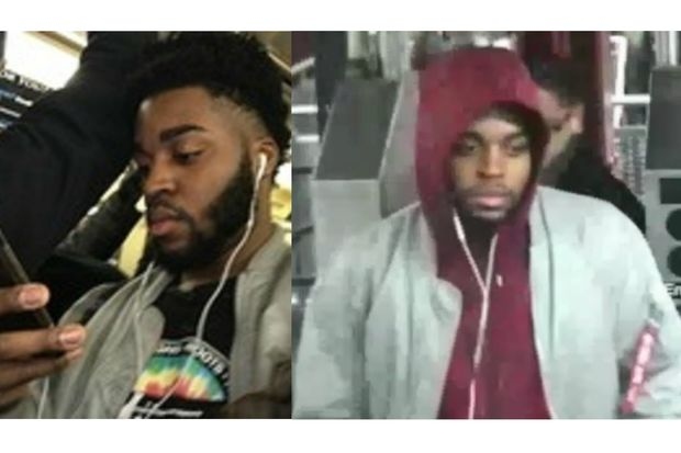 Police are looking for a man they say forcibly touched the same woman twice within two days.