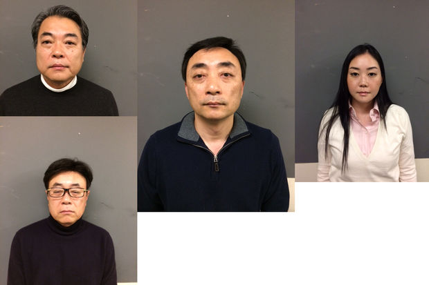 Spa castle owners (from left to right) Victor Chon, Steve Chon, Daniel Chon and Stephanie Chon were charged with failing to pay more than $1.5 million in state taxes.